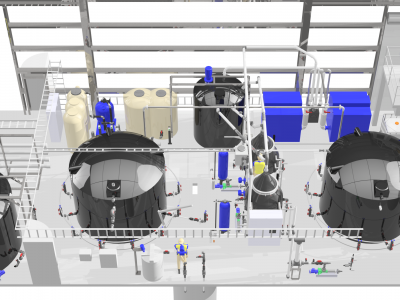 wastewater treatment plant 3D CAD Modelling
